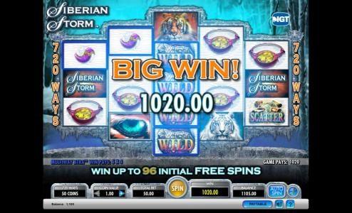 Siberian Storm Big Win Jackpot