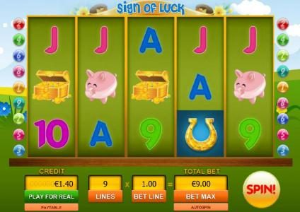 Cosmik featuring the Video Slots Sign of Luck with a maximum payout of $10,000