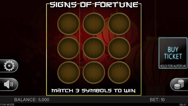 Argo featuring the Video Slots Signs of Fortune with a maximum payout of $40,000