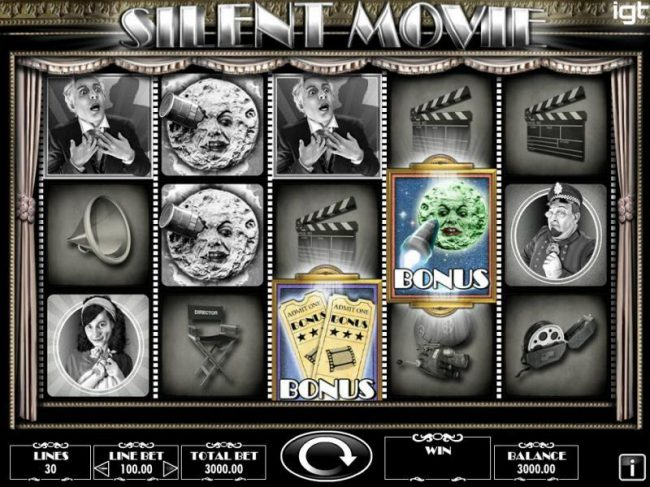 Play slots at Slots Angel: Slots Angel featuring the Video Slots Silent Movie with a maximum payout of $250,000
