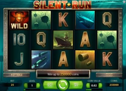 Wicked Bet featuring the Video Slots Silent Run with a maximum payout of $5,000