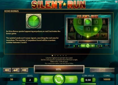 EU Casino featuring the Video Slots Silent Run with a maximum payout of $5,000