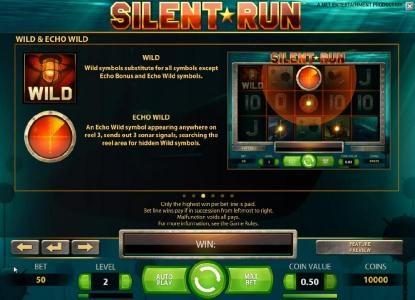 Jonny Jackpot featuring the Video Slots Silent Run with a maximum payout of $5,000