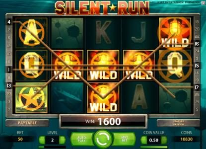 Touch Lucky featuring the Video Slots Silent Run with a maximum payout of $5,000