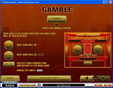 Euro Grand featuring the Video Slots Silent Samurai with a maximum payout of $25,000