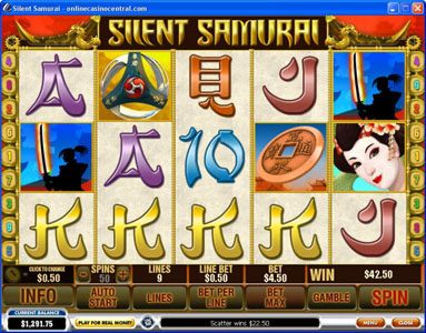 City Tower featuring the Video Slots Silent Samurai with a maximum payout of $25,000