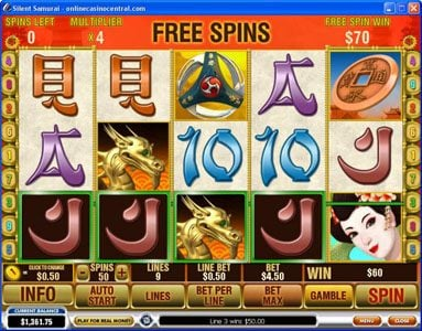 EuroMax Play featuring the Video Slots Silent Samurai with a maximum payout of $25,000