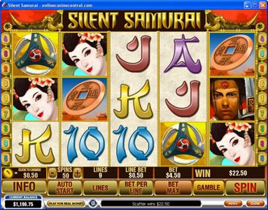 Grand Reef featuring the Video Slots Silent Samurai with a maximum payout of $25,000