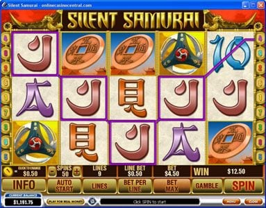 King Solomons featuring the Video Slots Silent Samurai with a maximum payout of $25,000
