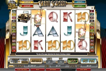 Secret Slots featuring the video-Slots Silent Screen with a maximum payout of 5,000x