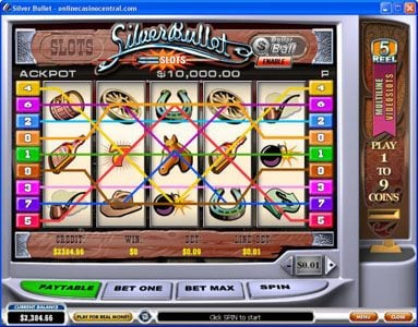 Club Vulkan featuring the Video Slots Silver Bullet with a maximum payout of $50,000