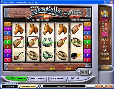 Euro Grand featuring the Video Slots Silver Bullet with a maximum payout of $50,000