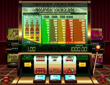 Play slots at Long Harbour: Long Harbour featuring the Video Slots Silver Dollar with a maximum payout of $100,000