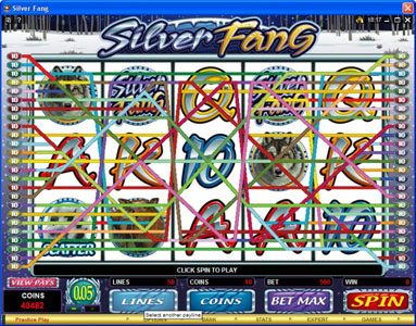 Virtual City featuring the Video Slots Silver Fang with a maximum payout of $125,000