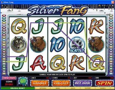 Astralbet featuring the Video Slots Silver Fang with a maximum payout of $125,000