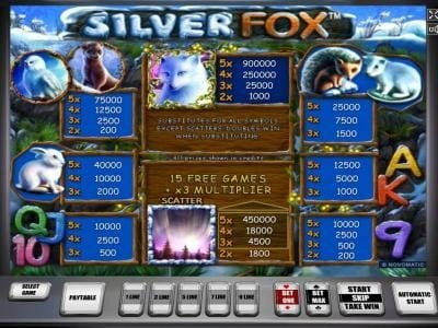 Slot game symbols paytable - Symbols include an owl, a rabbit, a silver fox, a hedgehog, a mink and the northern lights.