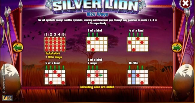 Cheeky Riches featuring the Video Slots Silver Lion with a maximum payout of $224,000