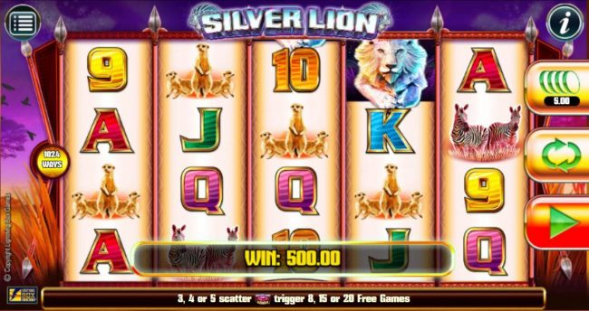 Play slots at Karamba: Karamba featuring the Video Slots Silver Lion with a maximum payout of $224,000