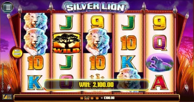 Guts featuring the Video Slots Silver Lion with a maximum payout of $224,000