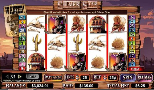 Play slots at Casino Luck: Casino Luck featuring the video-Slots Silver Star with a maximum payout of $100,000