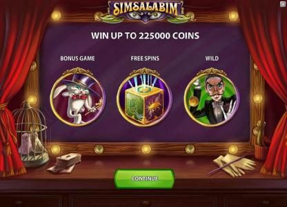 Spinzilla featuring the Video Slots Simsalabim with a maximum payout of $75,000