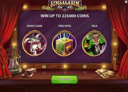 Play slots at Casimba: Casimba featuring the Video Slots Simsalabim with a maximum payout of $75,000