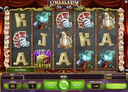 Northern Lights featuring the Video Slots Simsalabim with a maximum payout of $75,000