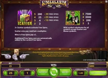 14 Red Casino featuring the Video Slots Simsalabim with a maximum payout of $75,000