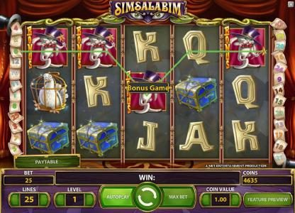 NordiCasino featuring the Video Slots Simsalabim with a maximum payout of $75,000
