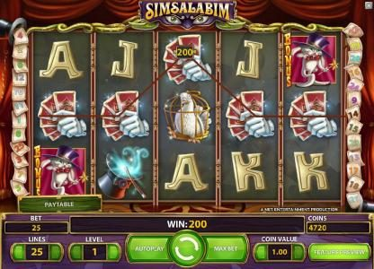 Zinger Spins featuring the Video Slots Simsalabim with a maximum payout of $75,000
