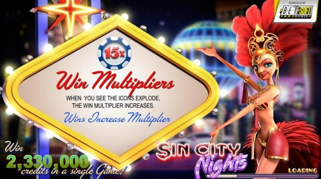 Play slots at Laromere: Laromere featuring the Video Slots Sin City Nights with a maximum payout of $2,330,000
