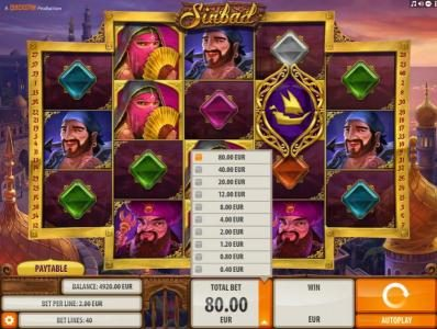 Caribic featuring the Video Slots Sinbad with a maximum payout of $2,000
