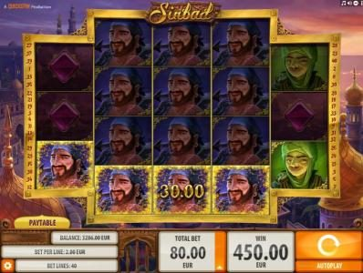 Casino Cruise featuring the Video Slots Sinbad with a maximum payout of $2,000