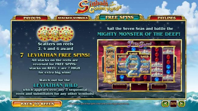 Wicked Jackpots featuring the Video Slots Sinbad's Golden Voyage with a maximum payout of $350,000