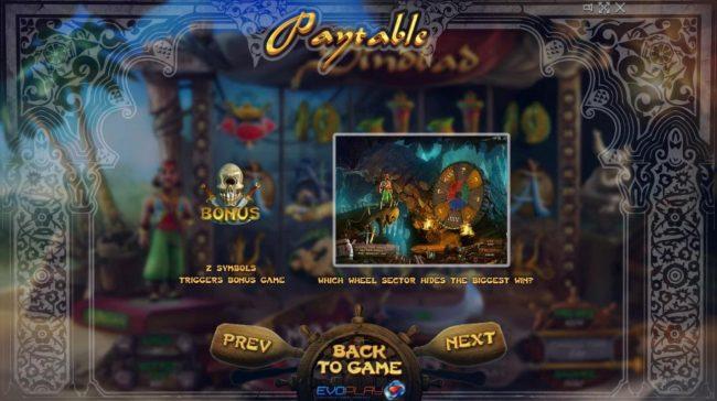 Sindbad :: Bonus Game Rules