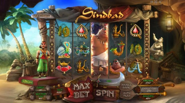 Sindbad :: Wild symbols expands covering the entire reel