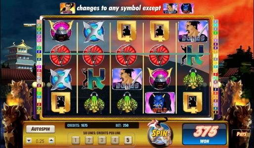 My Bet featuring the Video Slots Sinful Spins with a maximum payout of $125,000