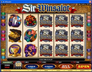 Shadowbet featuring the Video Slots Sir Winsalot with a maximum payout of $7,500