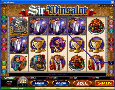 Play slots at Crazy vegas: Crazy vegas featuring the Video Slots Sir Winsalot with a maximum payout of $7,500
