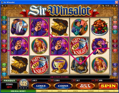 Colosseum featuring the Video Slots Sir Winsalot with a maximum payout of $7,500
