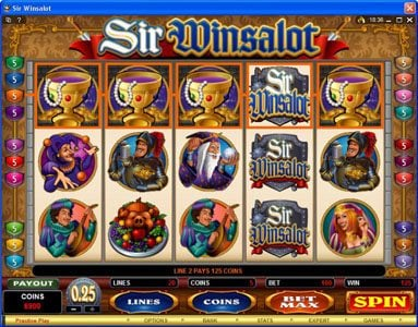 Casino Cruise featuring the Video Slots Sir Winsalot with a maximum payout of $7,500