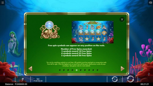 emu Casino featuring the Video Slots Siren's Kingdom with a maximum payout of $60,000