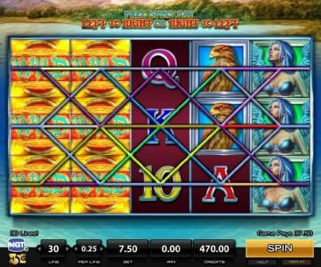 Sirens :: Stacked wild symbols on the 1st and 2nd reels triggers multiple winning combinations