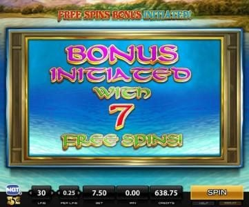 Sirens :: 7 free spins awarded.