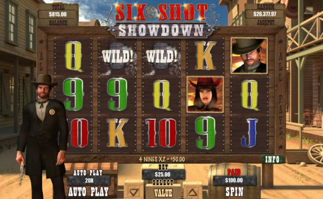 La Riviera featuring the Video Slots Six Shot Showdown with a maximum payout of $12,500
