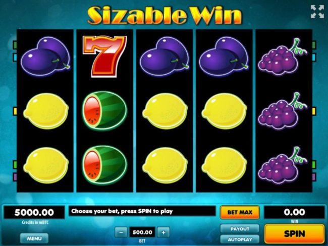 Play slots at Viggoslots: Viggoslots featuring the Video Slots Sizable Win with a maximum payout of $500,000