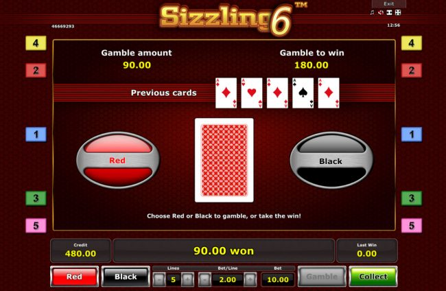 Red or Black Gamble feature