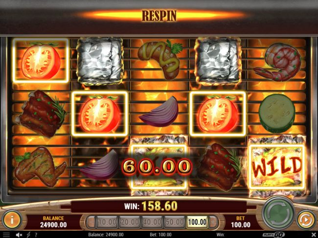 Jonny Jackpot featuring the Video Slots Sizzling Spins with a maximum payout of $500,000