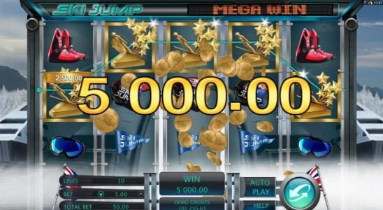 Crystal featuring the Video Slots Ski Jump with a maximum payout of $12,500