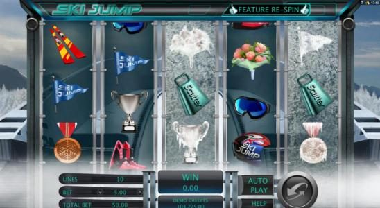 Dublinbet featuring the Video Slots Ski Jump with a maximum payout of $12,500